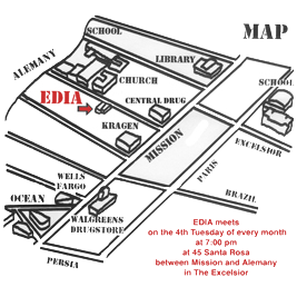 EDIA meeting location map